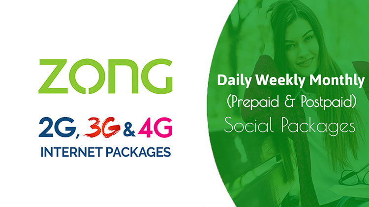 Zong Daily Weekly Monthly Internet Packages 2020