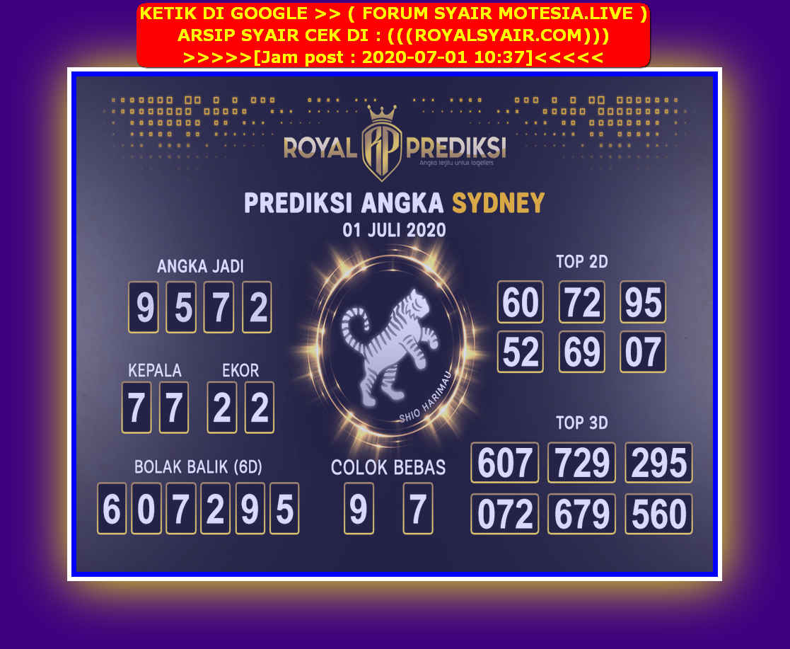 Kode syair Sydney Rabu 1 Juli 2020 59