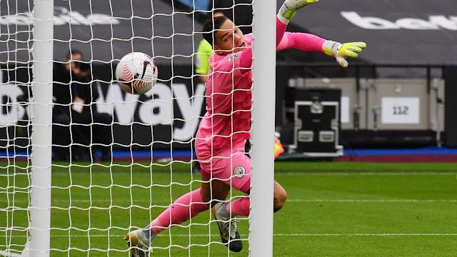 Man City goal keeper Ederson