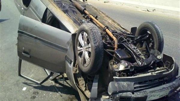 بالأسماء.. مصرع وإصابة 10 أشخاص في حادث انقلاب سيارة بزراعي البحيرة