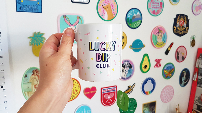 Lucky Dip Club mug. Photo by Zabby Allen, creative business owner and indie magazine editor.