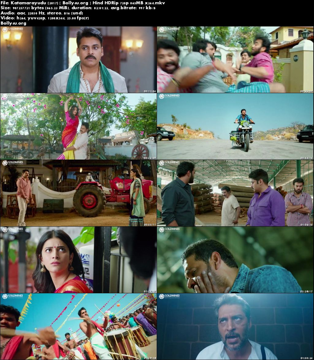 Katamarayudu 2017 HDRip 350MB Hind Dubbed 480p Download
