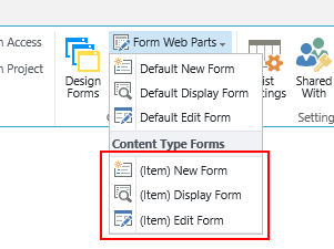 Editing SharePoint form page