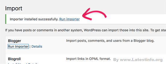 Blogspot to WordPress Rum importer