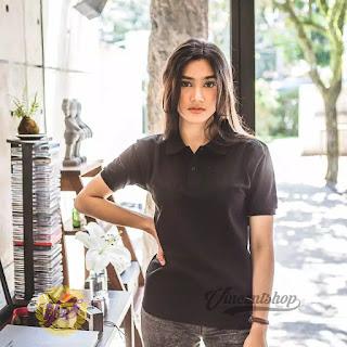 Kaos Polo Shirt Wanita HITAM