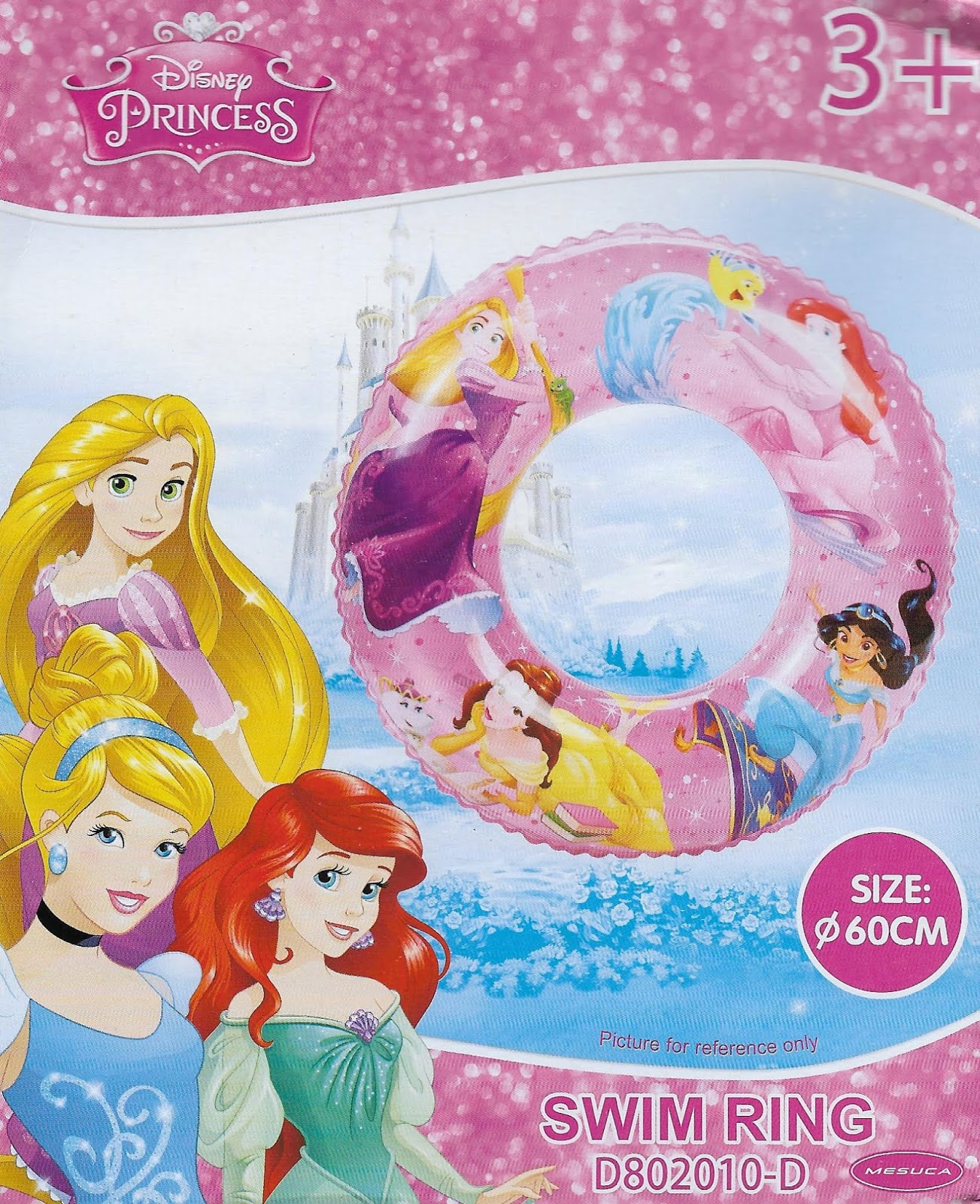 Disney Princess 60cm Inflatable Swimming Float Ring Dp53