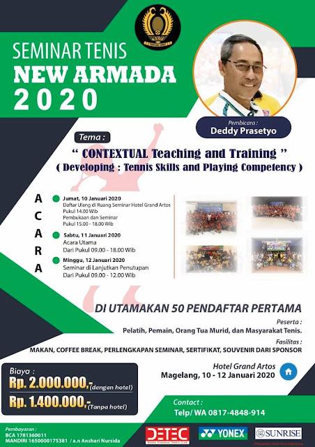 Seminar Tenis NEW ARMADA 2020 Bersama Deddy Prasetyo