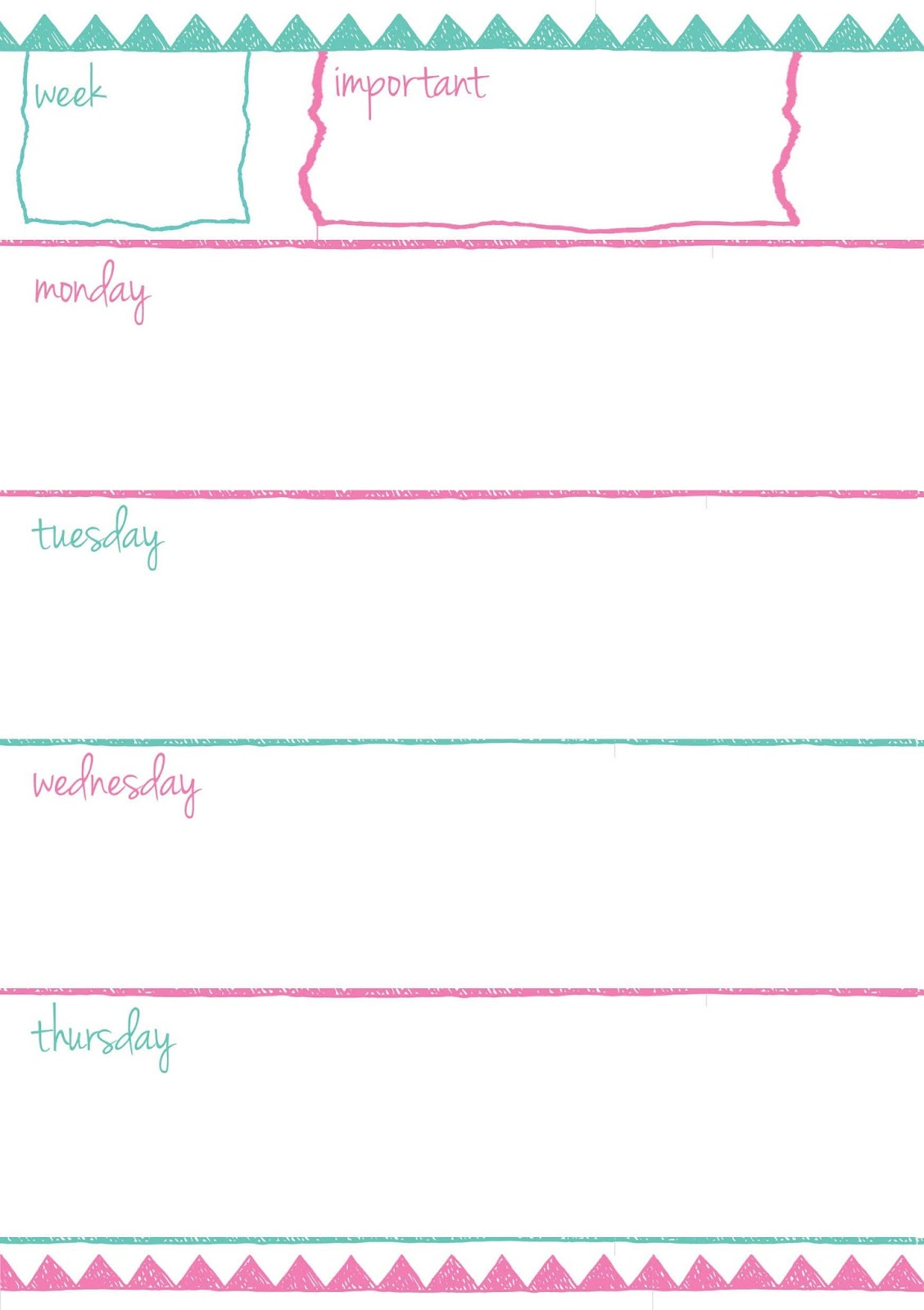 PB and J Studio: Free Printable Planner Inserts | Doodle ...