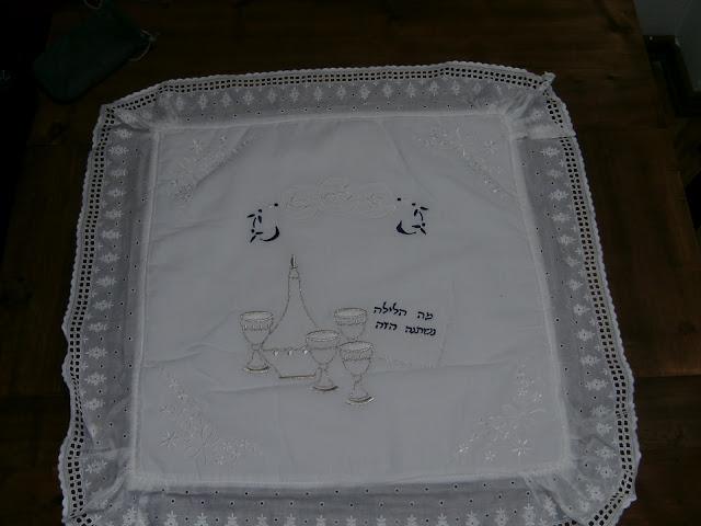 Mantel cubre Matzot bellamente decorado 57 ctms.