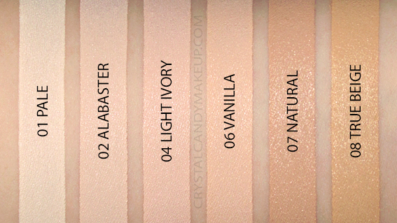 Correcteur Can't Stop Won't Stop NYX Swatches Pale Alabaster Ivory Vanilla Natural True Beige