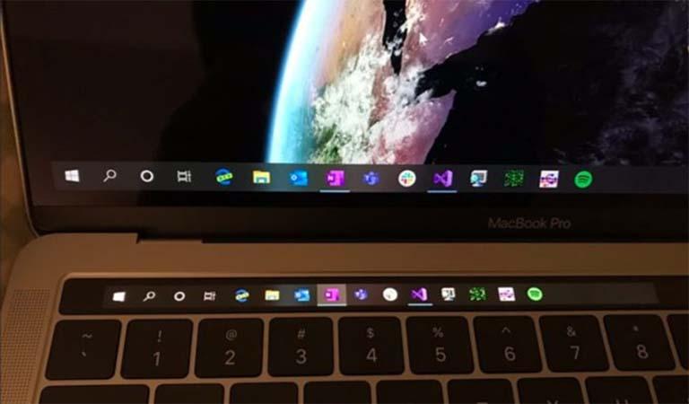 Touch Bar Pada Perangkat MacBook Pro Jadi Bermanfaat Dengan Windows 10