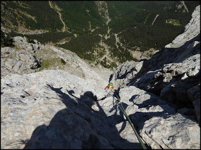 Escalada de la Homedes al Gat, Pedraforca