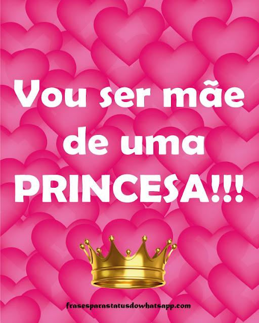 vou ser mãe de uma princesa