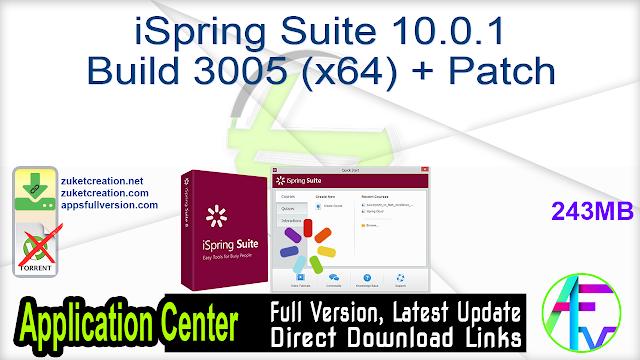 iSpring Suite 10.0.1 Build 3005 (x64) + Patch