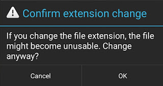 Confirm Extension Change