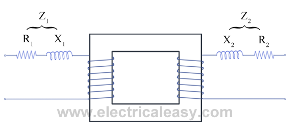 transformer with resistance and leakage reactance
