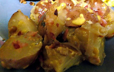 Bacon and Cheese Potatoes in the crockpot