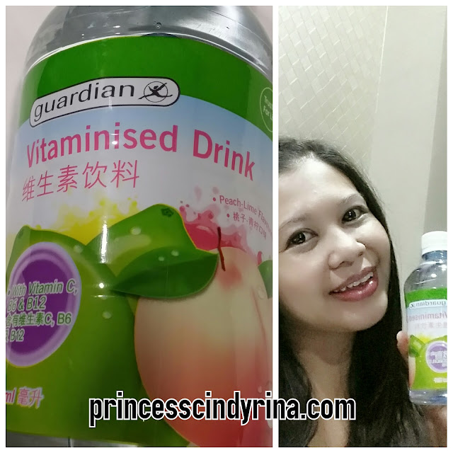 woman with vitaminized drink