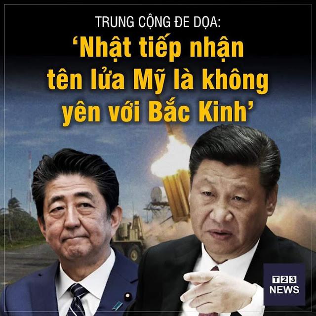 """Trung Quốc đe dọa: """"Nhật tiếp nhận tên lửa Mỹ là không yên với Bắc Kinh"""""""