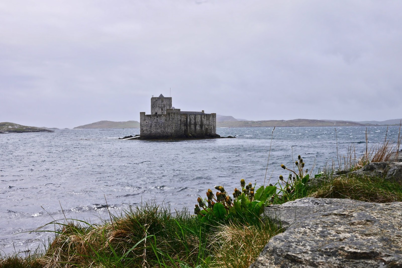 Castle Bay in Barra , Almost Chic and Cal McTravels during their Scottish Island Hopping in the outer Hebrides