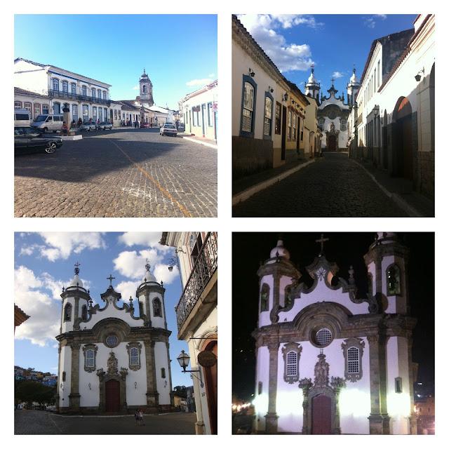 Rua Getúlio Vargas e Igreja Nossa Senhora do Carmo - São João del Rei - MG