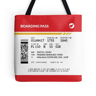 Boarding Pass Tote Bag