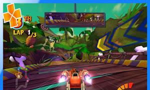 تحميل لعبة Crash Tag Team Racing psp iso مضغوطة لمحاكي ppsspp