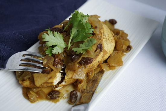 Curry Chicken with Apples and Raisins
