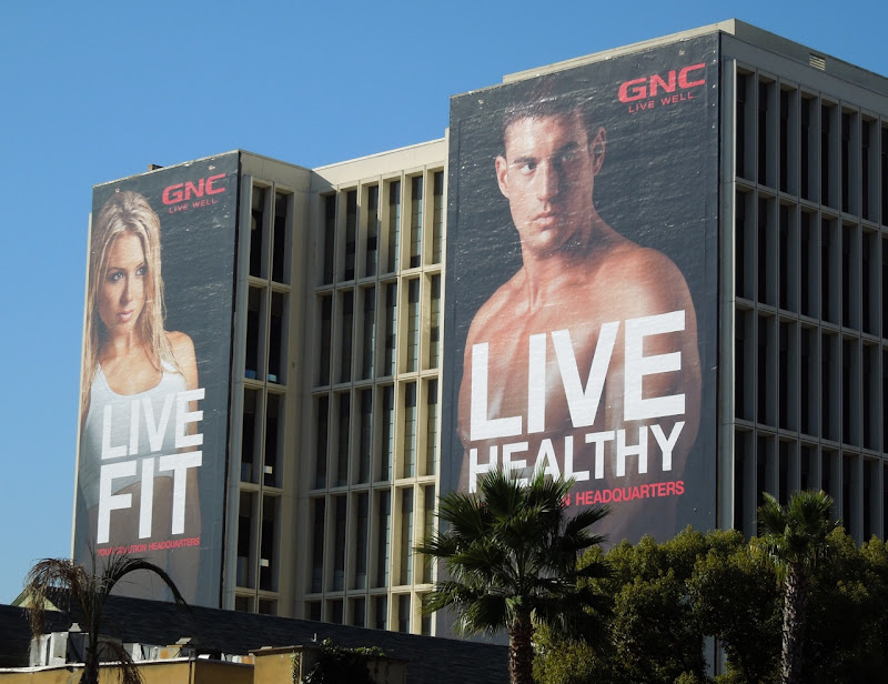 GNC Live Well 2012 billboards