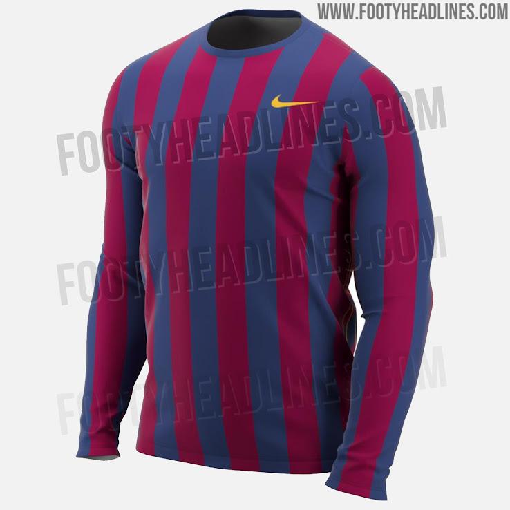 Classy Nike Fc Barcelona 2019 Ls Retro Shirt Leaked Leaked Soccer