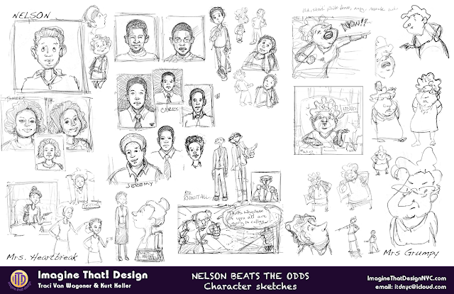 Character Design sketches for NBTO by Imagine That! Design