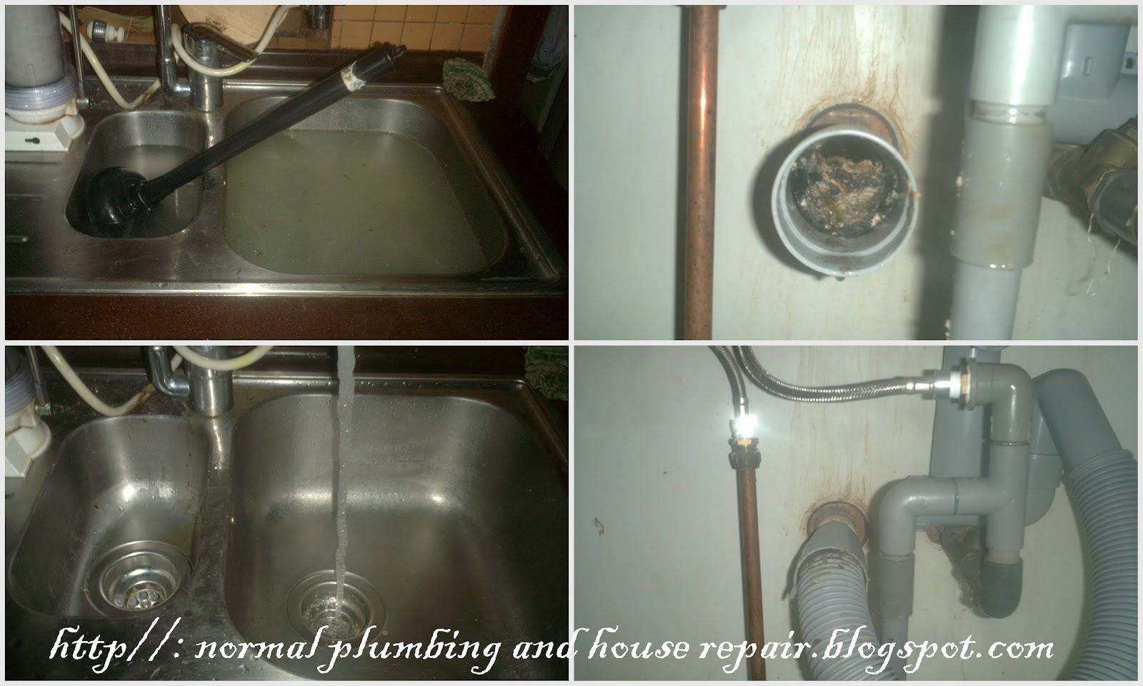 Gambar Diatas Sebelah Kiri Menunjukkan Sinki Dapur Yang Dipenuhi Air Dan Puan La Telah Cuba Mengepam Keluar Dari Tersebut Tetapi Tidak