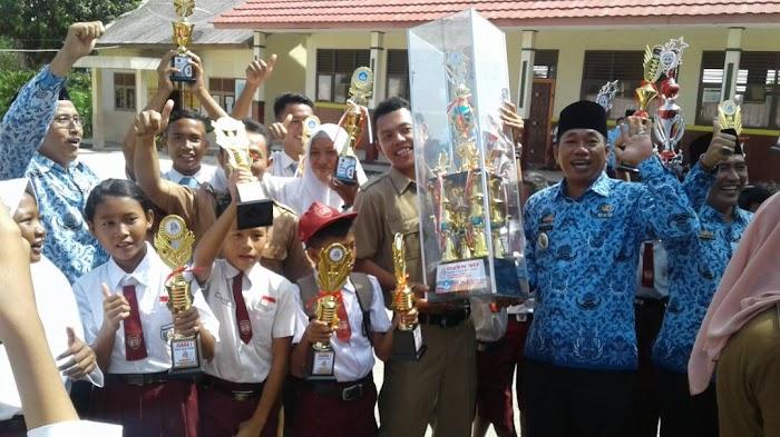 O2SN Tingkat SD Kecamatan Bakauheni Juara Umum Kabupaten Lampung Selatan