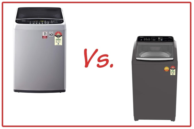 LG T65SNSF1Z (left) and Whirlpool Royal Plus (right) Washing Machine Comparison.