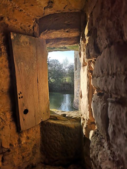 View from inside Bodiam Castle