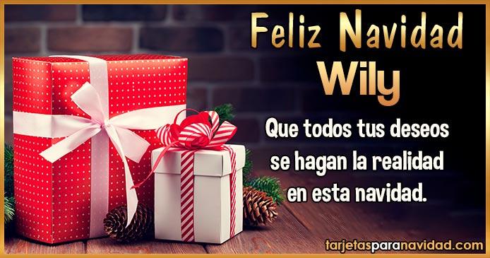 Feliz Navidad Wily