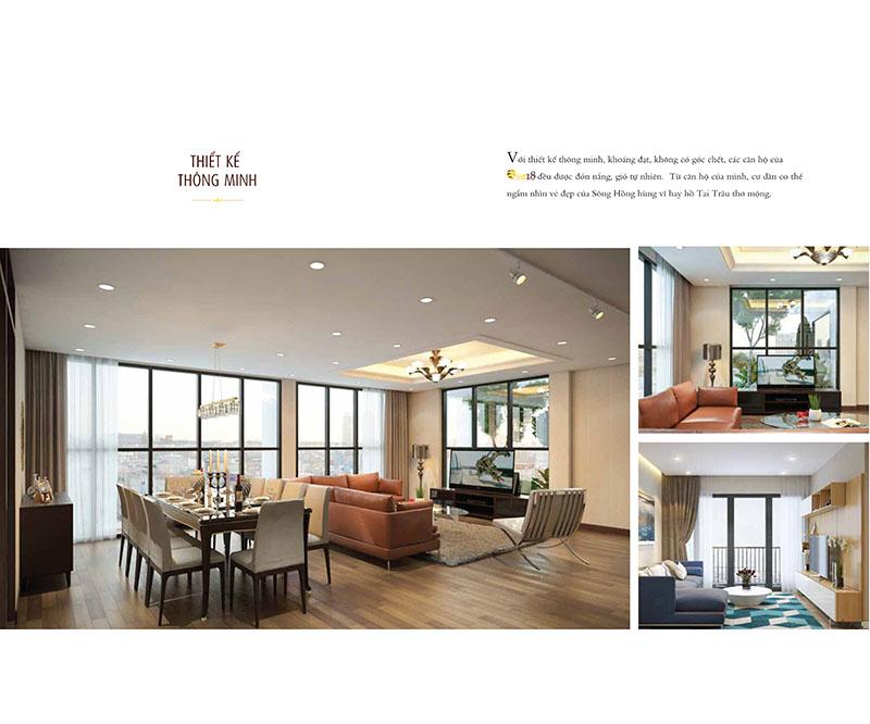 Thiết kế các căn hộ chung cư One18 luôn thoáng đãng, hiện đại