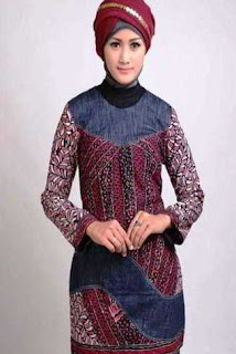 Gamis Batik Wanita Muslimah