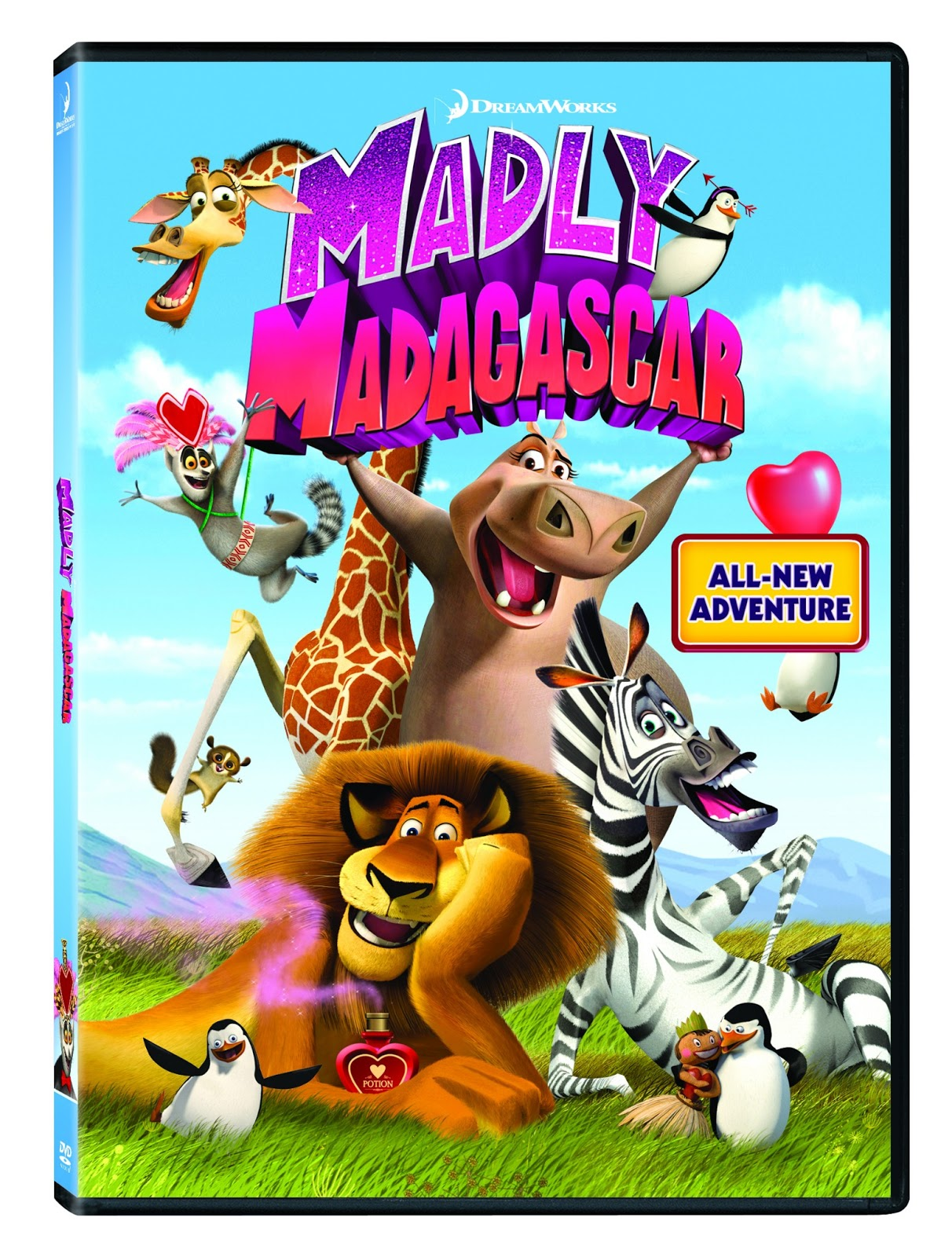 Madly Madagascar on DVD now for Valentine's Day | Frugal Family Tree