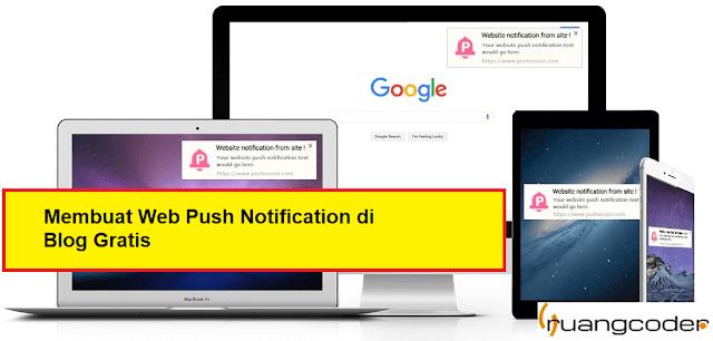 Membuat Fitur Web Push Notifications di Blog Gratis