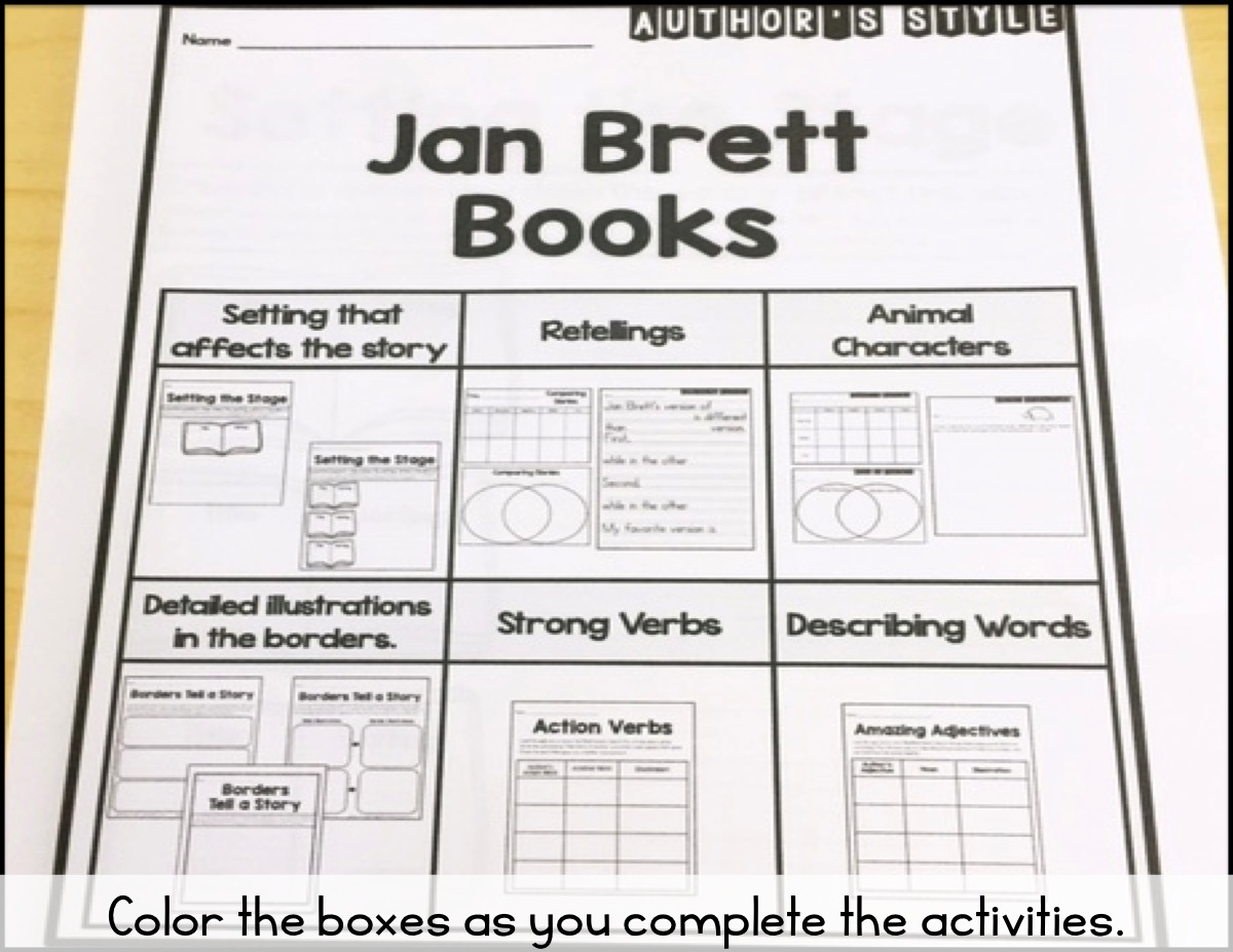 Sarah S First Grade Snippets Author S Style Jan Brett