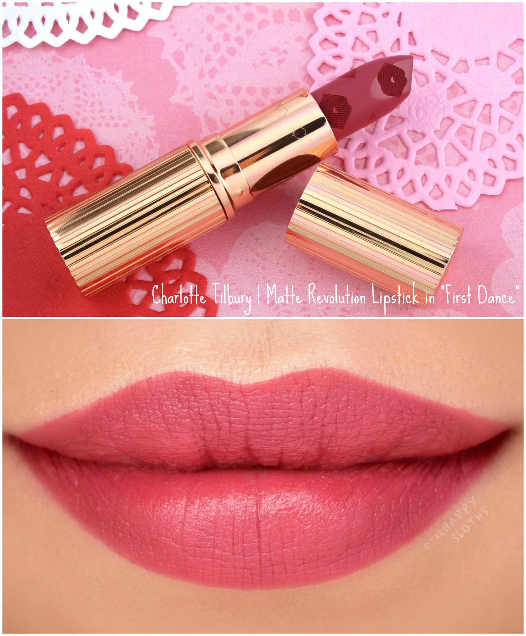 "Charlotte Tilbury | *NEW* Love Filter Matte Revolution Lipstick in ""First Dance"": Review and Swatches"
