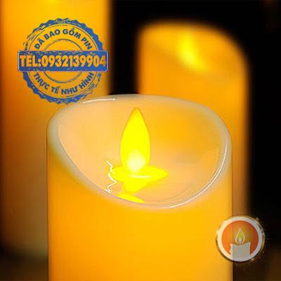 Đèn nến pin bằng nhựa tim đèn dao động