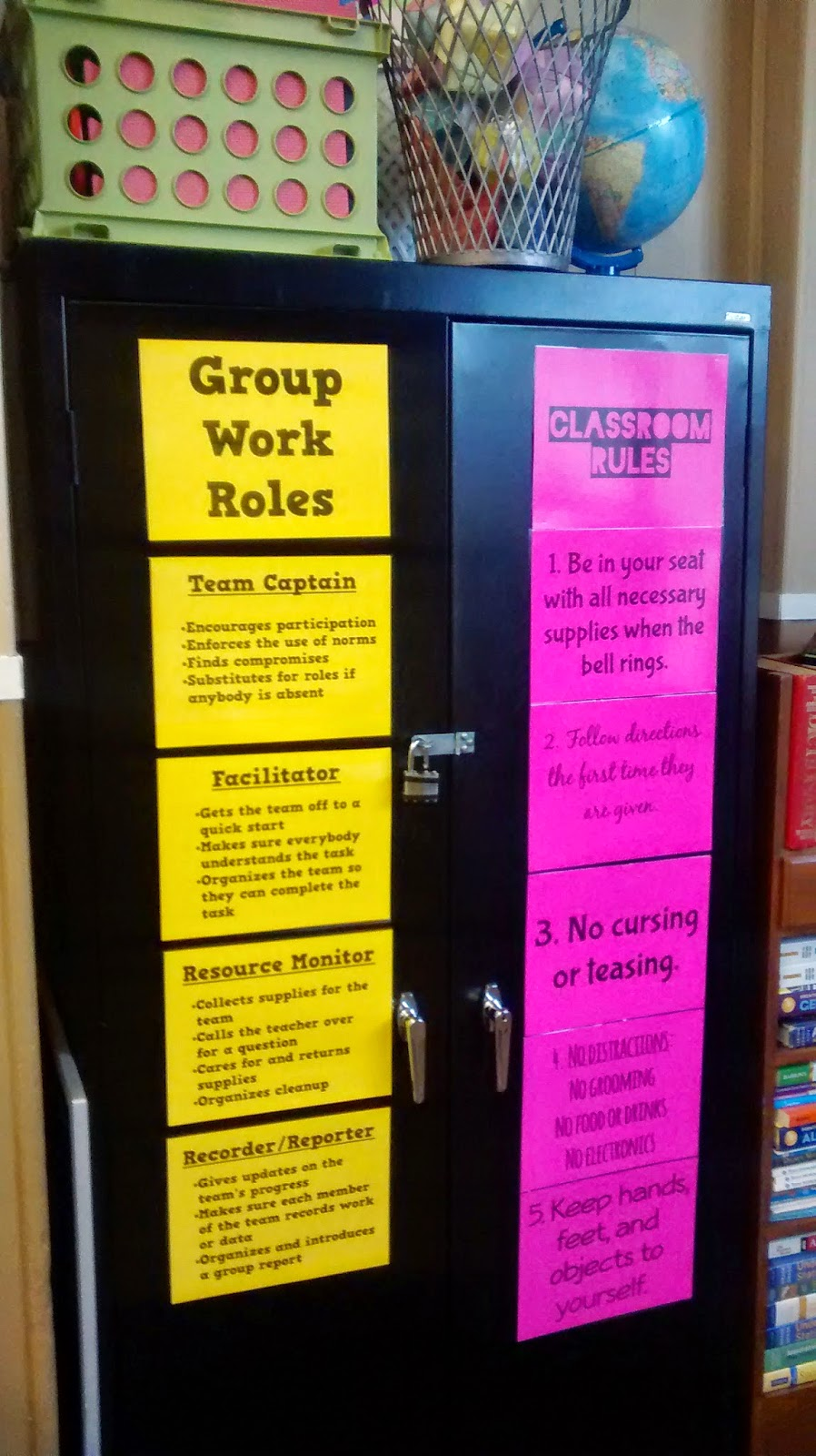 Collaborative Classroom Procedures ~ Math love posters of group work roles