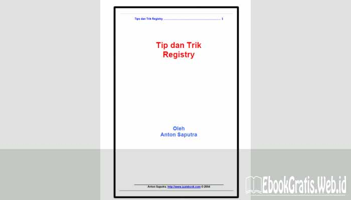 Ebook Tip dan Trik Registry