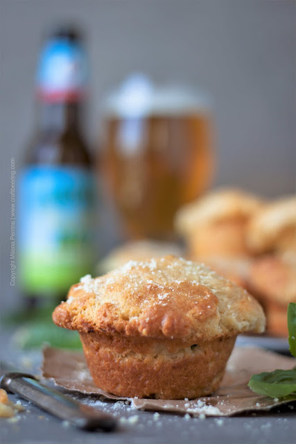 New Year's Day Brunch Ideas | Mozzarella and Basil Stuffed Beer Muffins