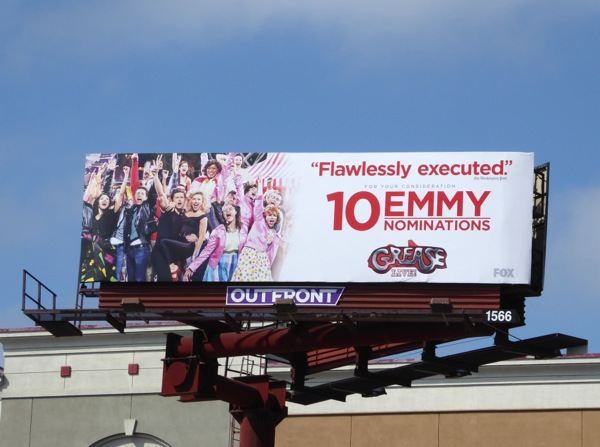 Grease Live Emmy nomination billboard