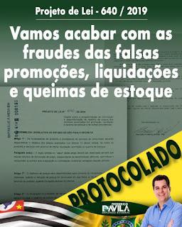 Deputado Frederico d'Avila apresenta projeto para acabar com as fraudes nos preços das promoções