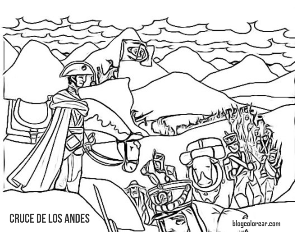 Colorear Cruce De Los Andes De San Martín Colorear Dibujos