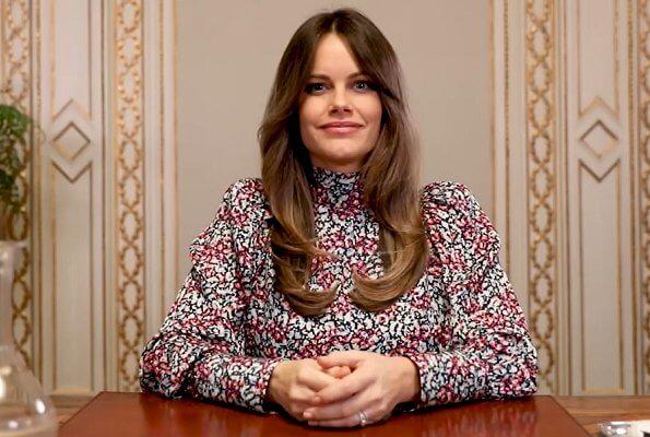 Princess Sofia wore a new wild-blossom blouse from By Malina. Princess Sofia wore a Penny blouse wild-blossom print blouse from By Malina
